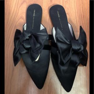 Zara Basic Collection Mules with Double Bow